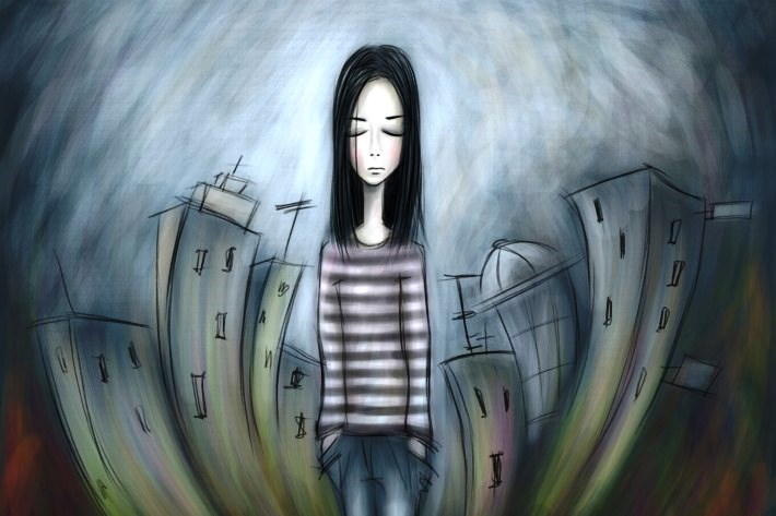 depressed-teen-girl-painting